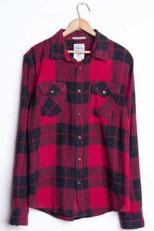 44mm Mens Vintage Flannel Shirt