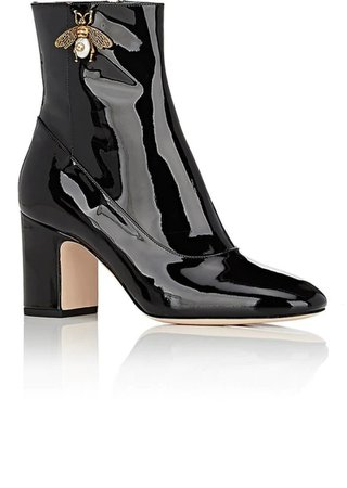 Gucci Gucci Women's Lois Patent Leather Ankle Boots | Shoes