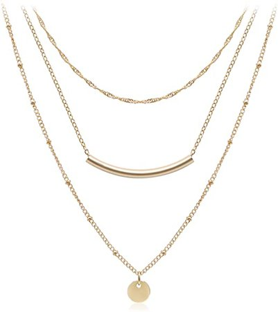 Amazon.com: So Pretty Layered Coin Tube Pendant Choker Necklace for, Coin&Bar, Size No Size: Jewelry
