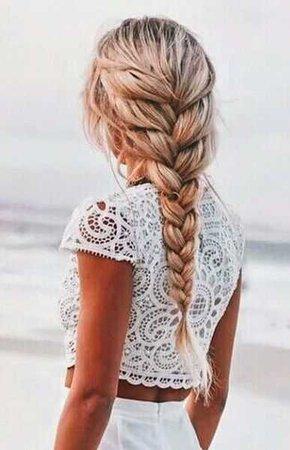 braid blonde
