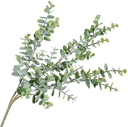 Danigrefinb 1Pc Artificial Eucalyptus Leaf 3 Branches Plant for DIY Wedding Party Home Decor decorative flowers artificial in vase Greyish Green: Amazon.co.uk: Kitchen & Home
