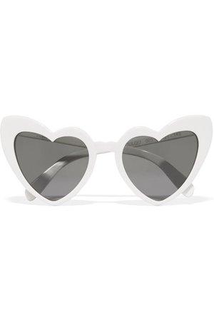 Saint Laurent | Loulou heart-frame acetate sunglasses | NET-A-PORTER.COM