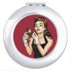 Retro Pinup Girl Lipstick Tubes Makeup Cosmetics Makeup Mirror | Zazzle.com