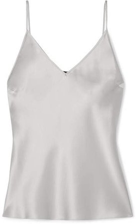 Cleo Silk-satin Camisole - Gray