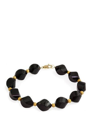 Effy® Onyx Bracelet in 14k Yellow Gold