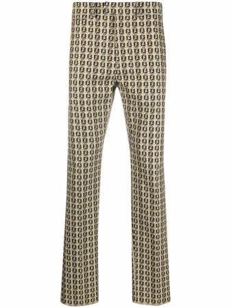 Fendi FF-print mid-rise trousers - FARFETCH