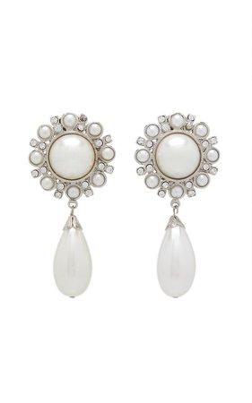 Pearl Drop Statement Earrings By Alessandra Rich   Moda Operandi