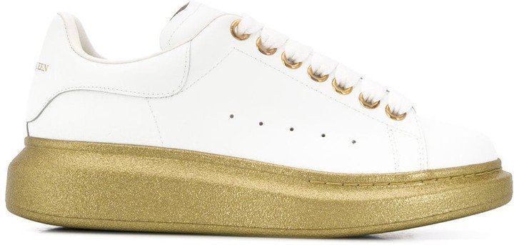 Oversized glitter-sole sneakers
