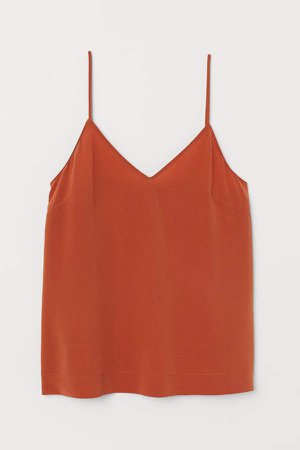Silk Camisole Top - Orange