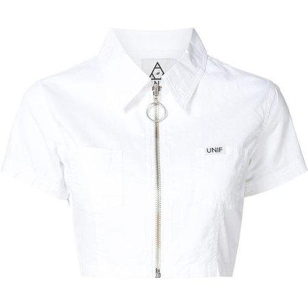 Unif cropped zip shirt