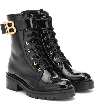 Balmain - Ranger leather combat boots | Mytheresa