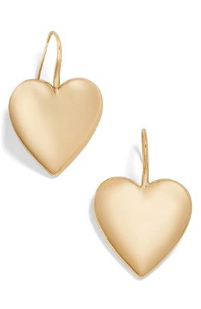 Baublebar Viviane Heart Drop Earrings In Gold   ModeSens