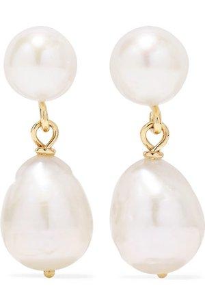 Natasha Schweitzer | Mia gold pearl earrings | NET-A-PORTER.COM