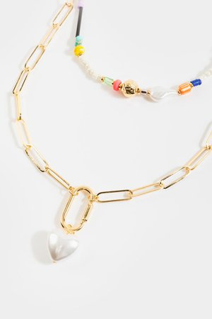 Lizzy Beaded Layered Necklace | francesca's
