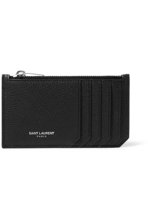 SAINT LAURENT | Textured-leather cardholder | NET-A-PORTER.COM