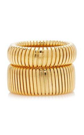 Exclusive Cobra Gold-Plated Ring Set By Ben-Amun   Moda Operandi