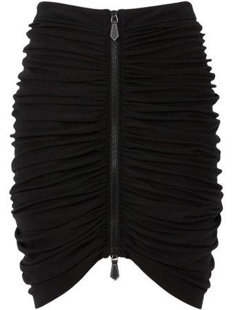 Black Burberry ruched mini skirt - Farfetch