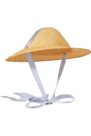 CLYDE | Adriatic cotton-trimmed straw hat | NET-A-PORTER.COM
