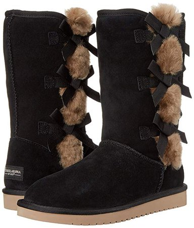 Amazon.com | Koolaburra by UGG Women's Victoria Tall Fashion Boot, Black, 09 M US | Mid-Calf