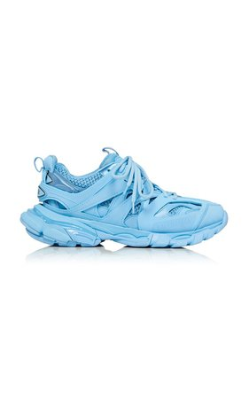 Track Leather And Mesh Sneakers By Balenciaga | Moda Operandi