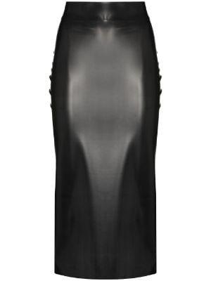 Saint Laurent latex skirt