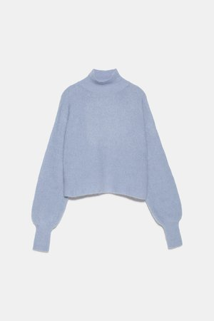 SPECIAL EDITION MOHAIR SWEATER - NEW IN-WOMAN | ZARA United States blue