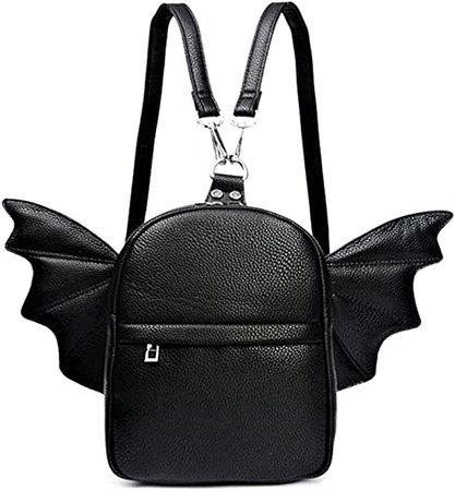Amazon.com: Women Fashion Mini Backpack | Detachable Bat Angel Wing Shoulder Bag (Black): Shoes