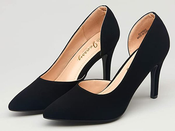 Amazon.com   JEOSSY Women's Nude Nubuck D'Orsay Pumps Stiletto High Heels Sexy Semi-Empty Dress Wedding Shoes for Women(11, D'Orsay Pump-022-Nude Nubuck)   Pumps