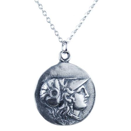 Greek Athena Warrior Medallion Necklace Available In 3 | Etsy