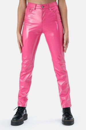 Nixon Faux Leather Pants – Adika