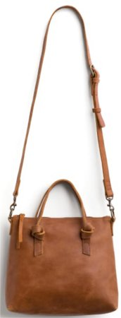 brown knot detail crossbody