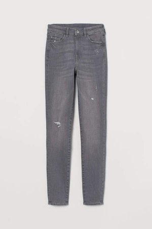 Super Skinny High Jeans - Gray