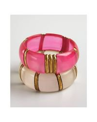 hot pinks and white bangles bracelets - Google Search