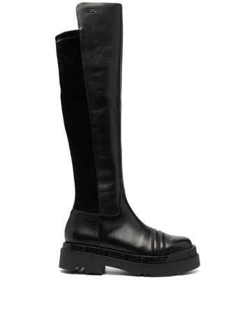 LIU JO knee-high Leather Boots - Farfetch