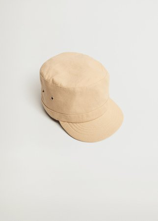Linen cap with visor - Women | Mango USA