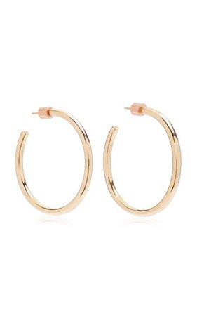 Baby Classic 14k Rose Gold-Plated Hoop Earrings By Jennifer Fisher | Moda Operandi