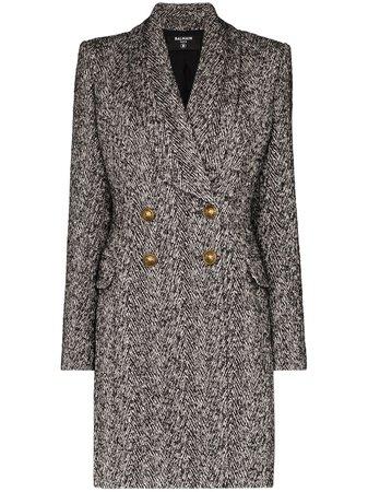 Balmain, double-breasted mid-length Coat