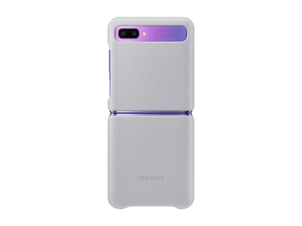 Galaxy Z Flip Leather cover Silver Mobile Accessories - EF-VF700LSEGUS | Samsung US