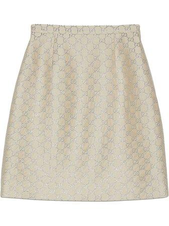 Gucci Light Lamé GG Mini Skirt - Farfetch