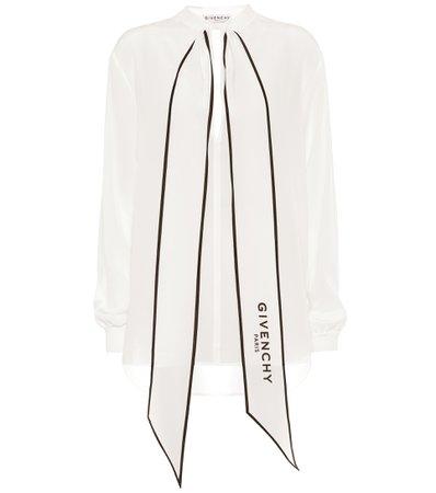 Silk-Georgette Blouse - Givenchy | Mytheresa