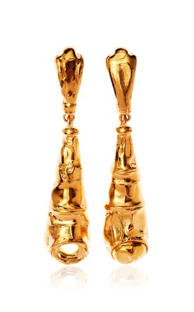 The Bella Donna 24k Gold-Plated Earrings By Alighieri | Moda Operandi