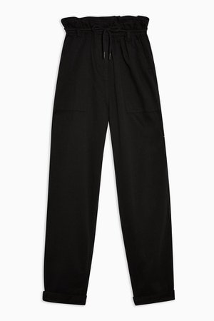 Black Marl Tapered Trousers | Topshop