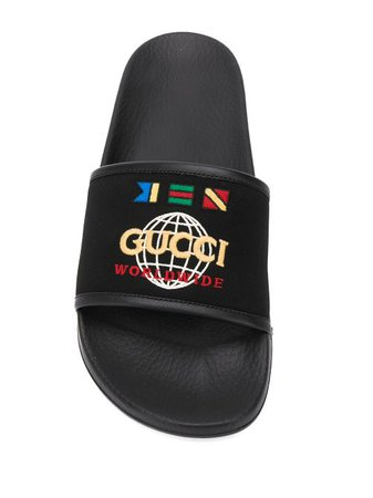 Shop Gucci slider sandals with Express Delivery - FARFETCH