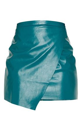 Emerald Green Faux Leather Mini Skirt | PrettyLittleThing