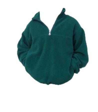 green qaurter zip jacket