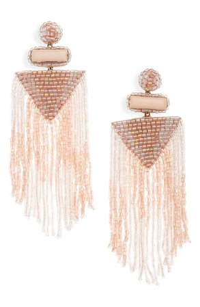 The Accessory Junkie Isabel Beaded Fringe Earrings | Nordstrom