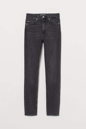 Skinny High Jeans - Gray