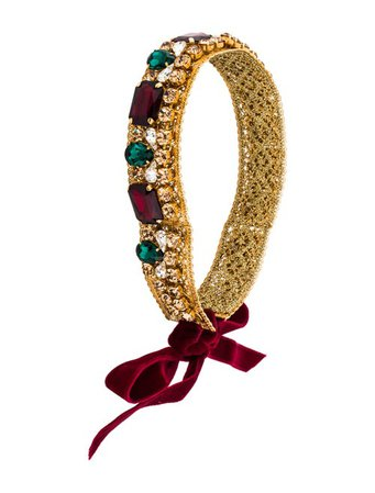 Dolce & Gabbana Jewel Embellished Headband - Accessories - DAG134372 | The RealReal