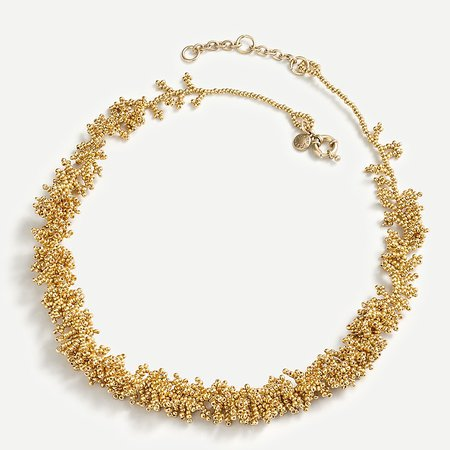 J.Crew: Coral Beaded Necklace For Women