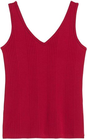 Ribbed V-Back Tank